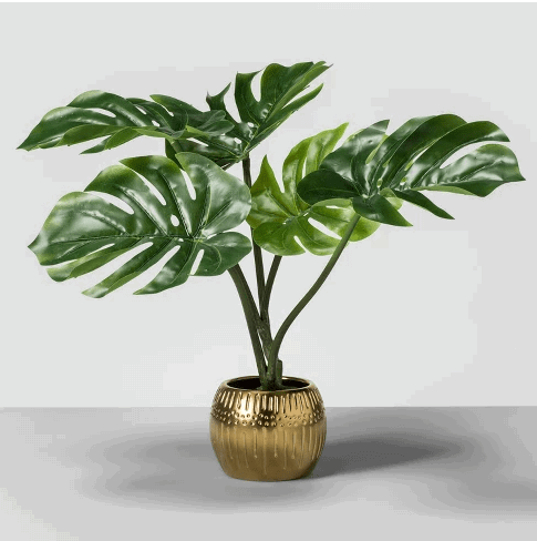 artificial palm leaf plant