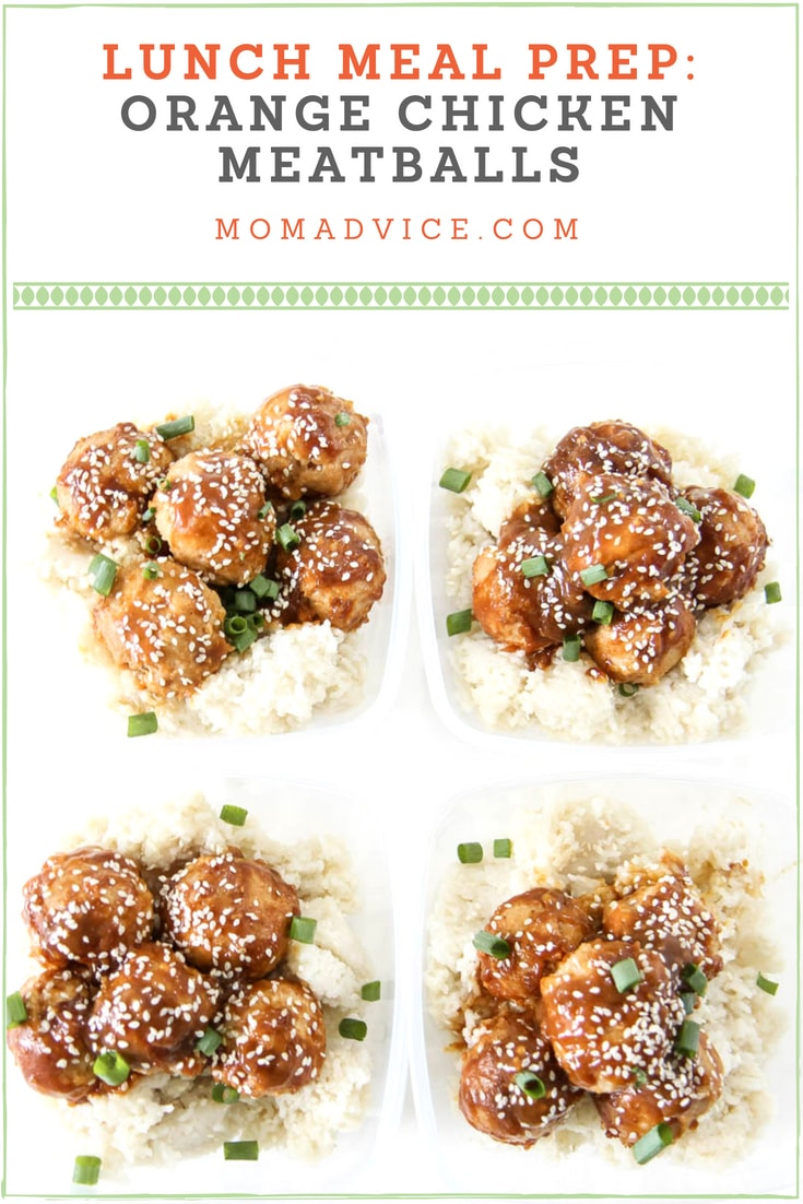 Baked Orange Chicken Meatballs from MomAdvice.com