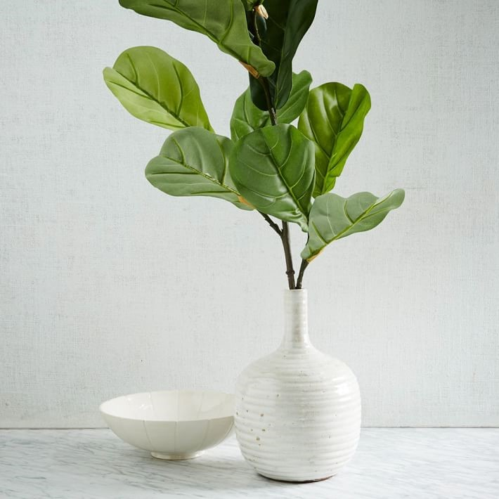 faux fiddle leaf fig branch
