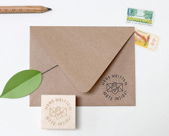 handwritten note stamp