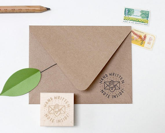 handwritten note stamp