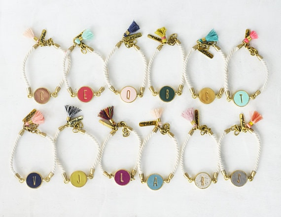 initial rope bracelets