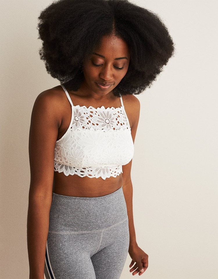 lace high neck bralette