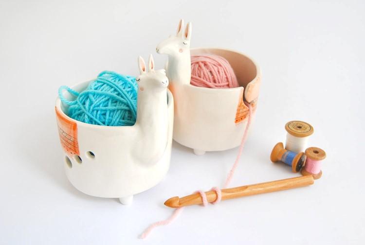 llama yarn bowl