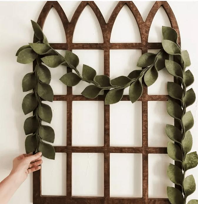 magnolia leaf garland