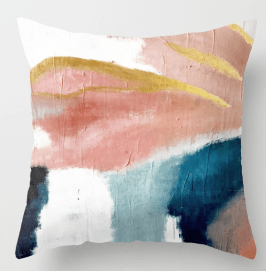 minimal art pillow