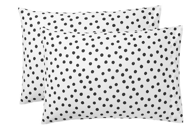 painted dot pillowcases