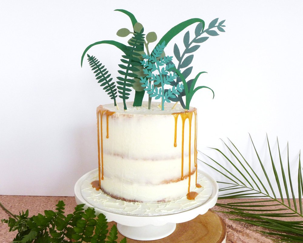 greenery cake topper