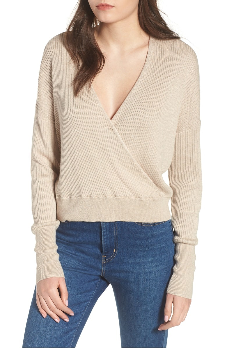 rib wrap sweater