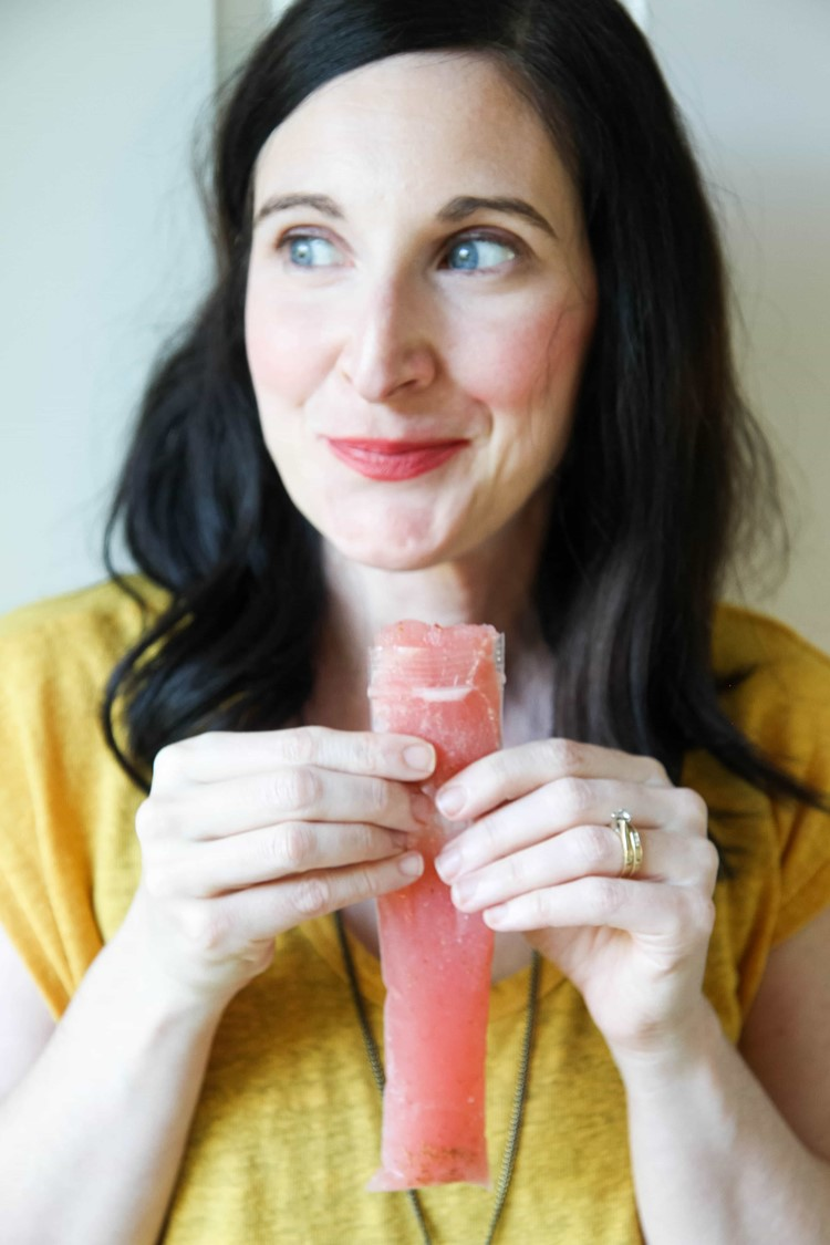 rosé strawberry wine pops from MomAdvice.com