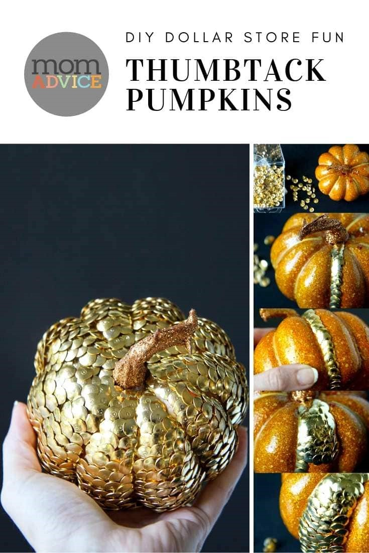 DIY Thumbtack Pumpkins from MomAdvice.com