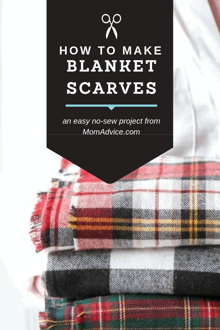 How To Make A Diy No Sew Blanket Scarf Plus How To Wear A Blanket Scarf Momadvice
