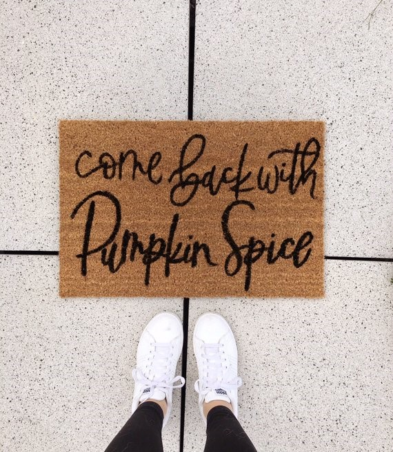 pumpkin spice welcome
