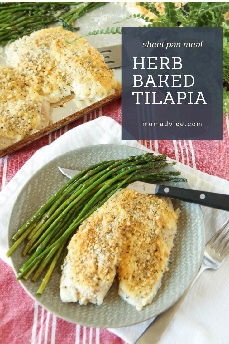 Herb Baked Tilapia Sheet Pan Meal
