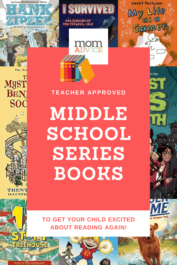 8 Middle School Series Books to Get Your Child Excited About Reading from MomAdvice.com