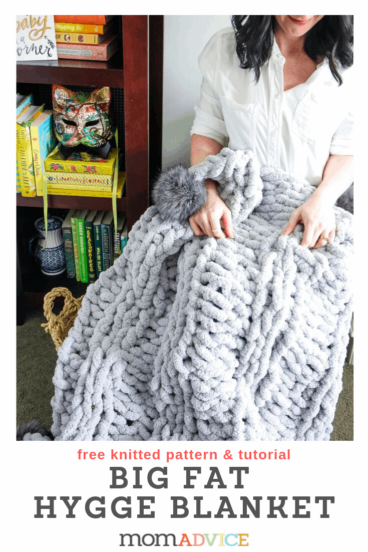 DIY Chunky Knit Hygge Blanket