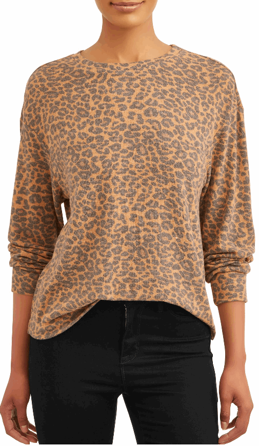 printed drop shoulder sweatshirt