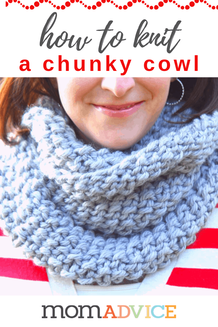 how to knit a chunky cowl