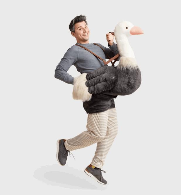 ostrich men's costume