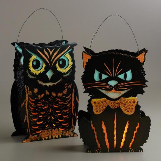 vintage halloween lantern sets
