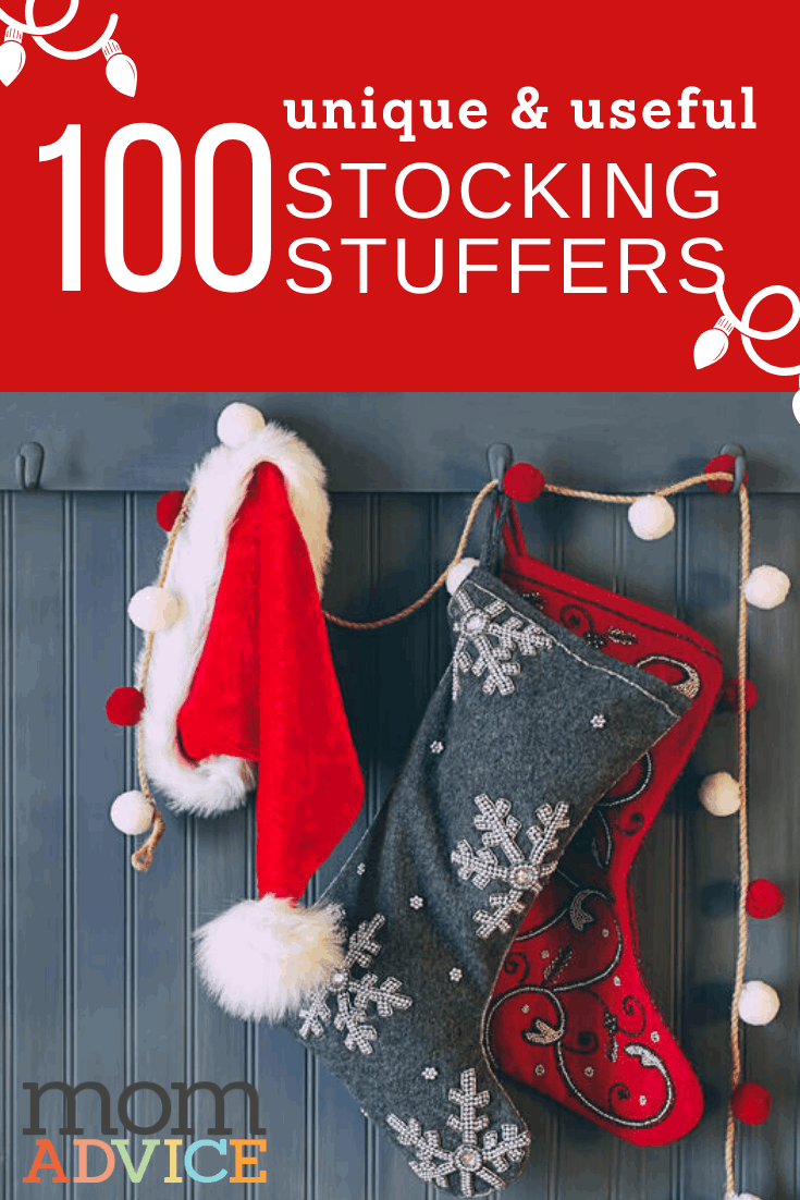 100 Unique Stocking Stuffers Gift Guide from MomAdvice.com