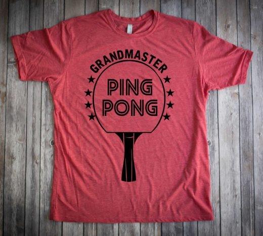 grandmaster ping pong shirt
