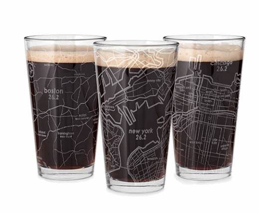 marathon pint glasses