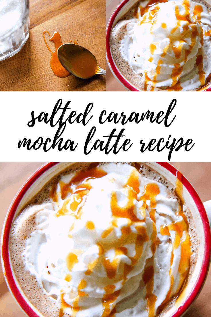 Homemade Salted Caramel Mocha Latte Recipe from MomAdvice.com