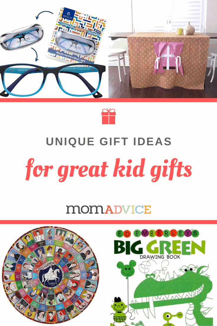 Unique Gift Ideas for Kids from MomAdvice.com