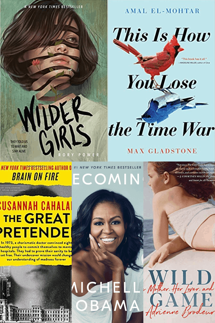 MomAdvice 2020 Reading Challenge Book Options