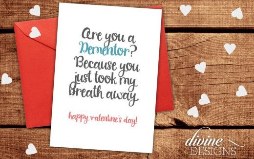 Dementor Took My Breath Away Valentine's Day Card