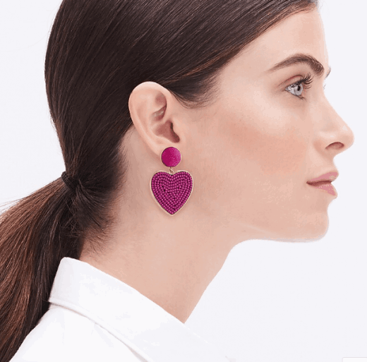 heart earrings