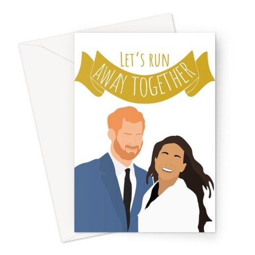 Let's Run Away Together Valentine's Day Card
