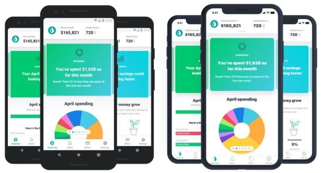 Mint App on Phone