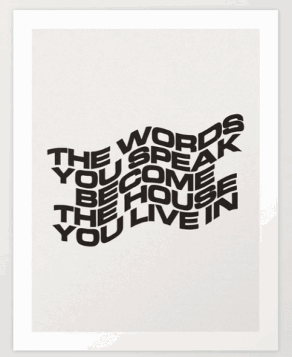 the words you speak print