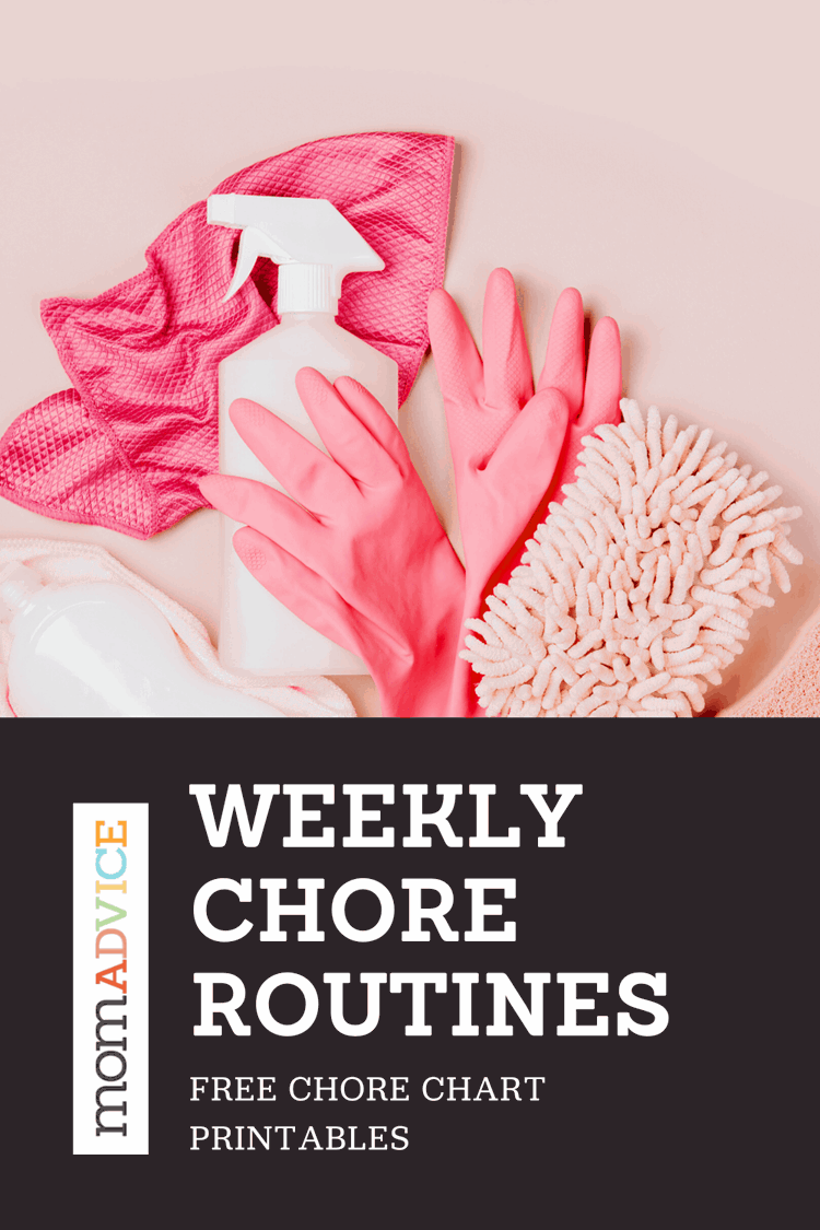 Creating a Weekly Cleaning Routine (Free Printable Charts) Header