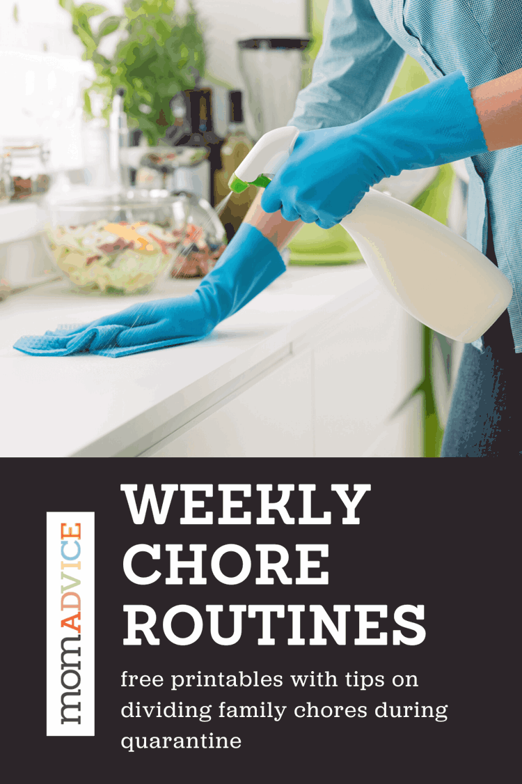 Weekly Chore Routines from MomAdvice.com
