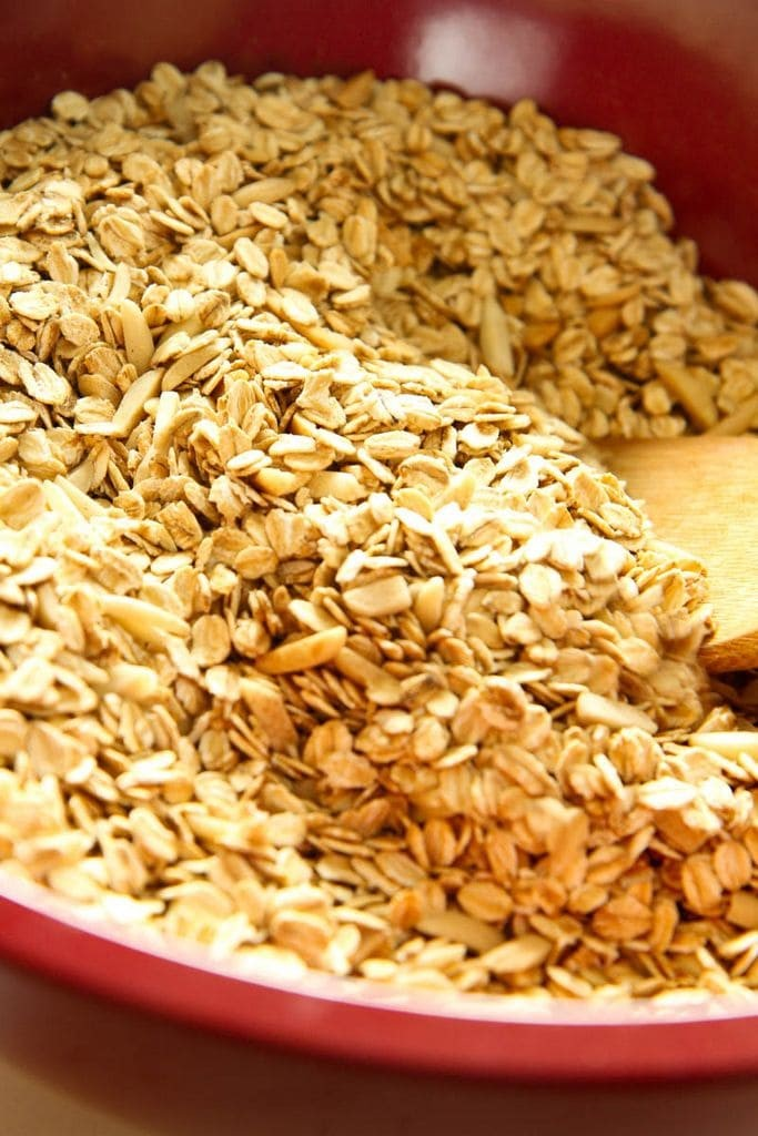 Stirring Oats and Slivered Almonds