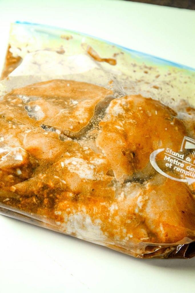 Marinating Chicken Shawarma