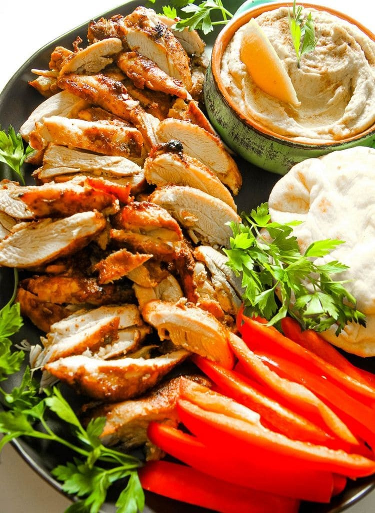 Chicken Shawarma Sheet Pan Meal Finished